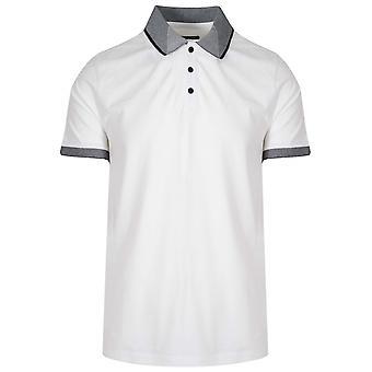 Michael Kors  Contrast Collar White Polo Shirt