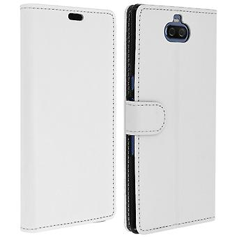 Slim Case, flip book cover, stand wallet case for Sony Xperia 10 Plus - White