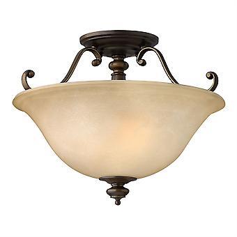 Elstead-2 Light semi Flush plafonnier light bronze Royal-HK/DUNHILL/SF
