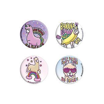 Grindstore Llama Drama Badge Pack