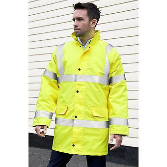 Dickies Premium Motorway Hi Vis Jacket / Mens Workwear (Pack of 2)