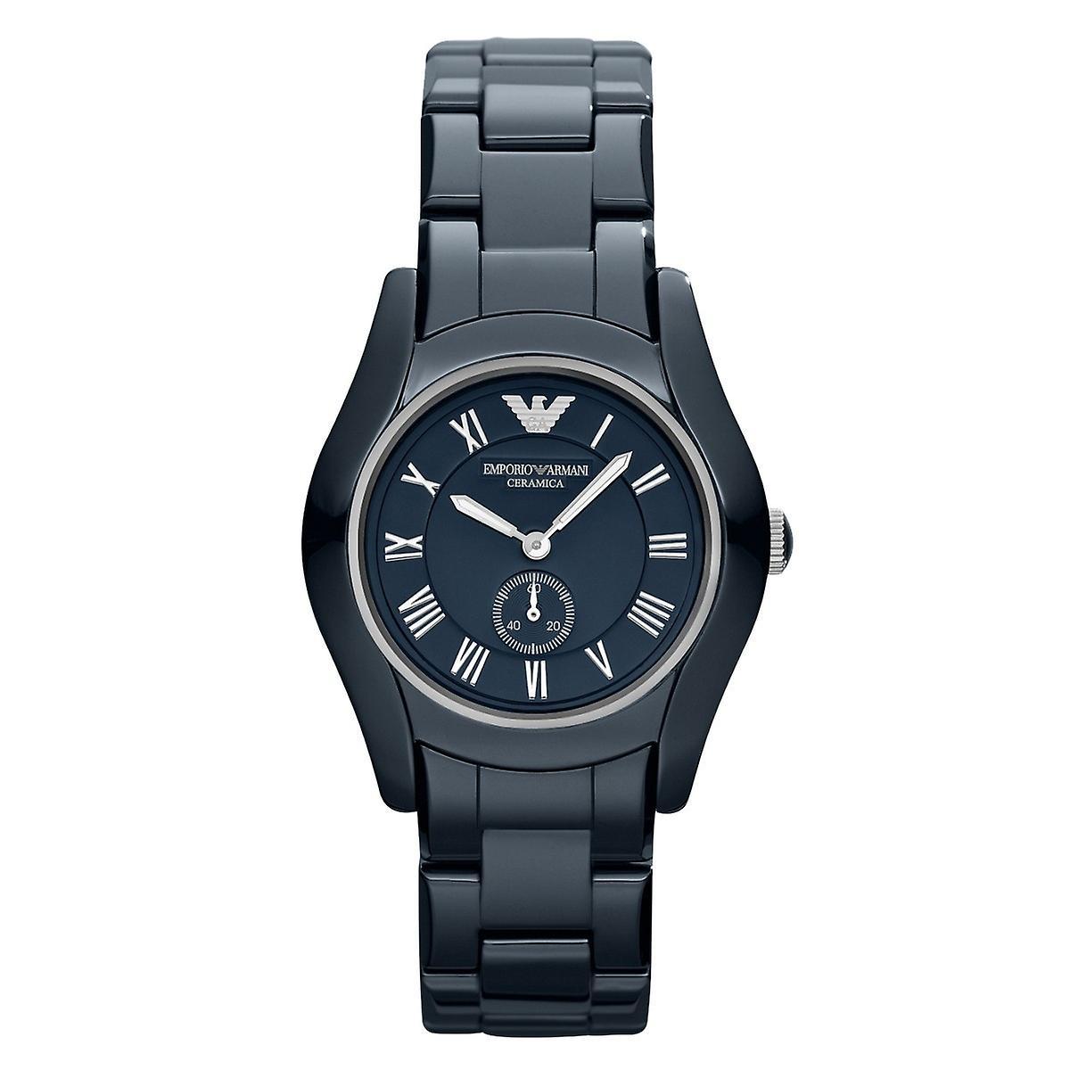 Emporio Armani Ar1471 Ladies Navy Blue Ceramic Watch