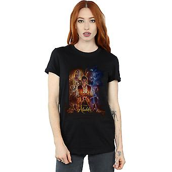 Disney Women's Aladdin Movie Poster Boyfriend Fit T-Shirt