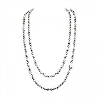 Timebeads 'Small Link Belcher' 80cm Silver Plated Chain Necklace TB-N01S80