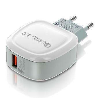 USB 3.1A Charger 3.0 Ultra-Fast Charge - White