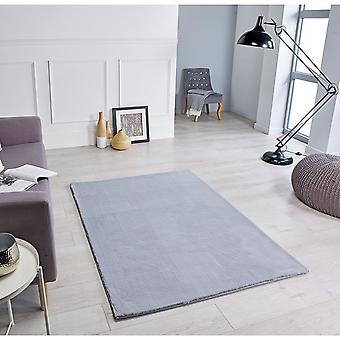 Alfombras rectangulares grises cómodas / alfombras casi lisas