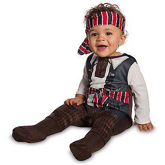 Tiny Pirate Matey Captain Hook Caribbean Buccaneer Book Week Infant Boys Costume