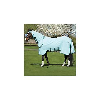Rambo Horse Sweetitch Hoody Free Fly Mask- Ice Green/green