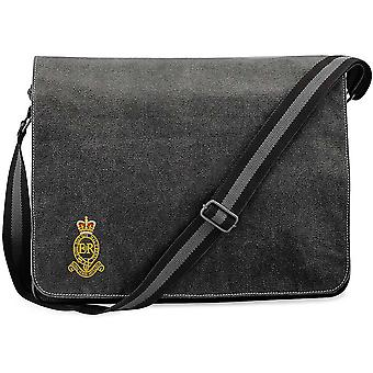 Royal Horse Artillery RHA - Licensed British Army Embroidered Vintage Canvas Despatch Messenger Bag