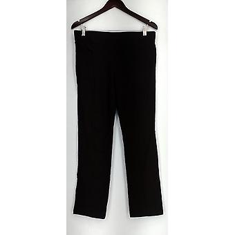 Susan graver legging weekend leggings w/faux leder trim bruin A268025