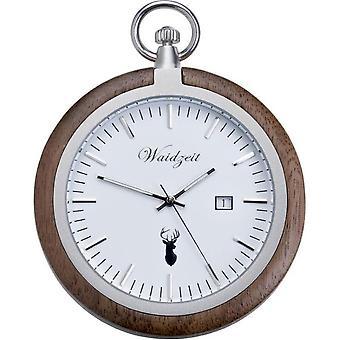 Pocket Watch Waidtime Walnut-TW01