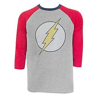 De Flash Raglan mouwen grijs T-shirt