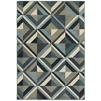 Linden 7902a blue/ grey indoor area rug rectangle 7'10