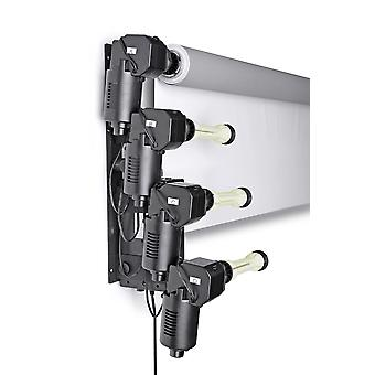 BRESSER MB-6Y elektrische wandhouder voor 6 papieren achtergrond rollen
