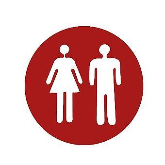 Matrica matrica Toa WC sürgős férfi és nő piros