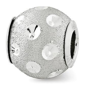 925 plata esterlina pulido acabado Reflejos Sparkle corte cordón encanto colgante collar joyería regalos para las mujeres