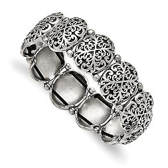 Stainless Steel Polished Oval Stretch Bracelet Jewelry Gifts for Women