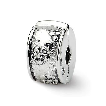 925 Sterling Silver Reflections Hinged Floral Clip Bead Charm Pendant Necklace Jewelry Gifts for Women
