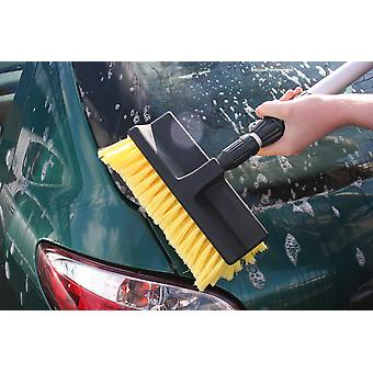 Deluxe Caravan Car Cleaning Telescopic Brush Broom & Water Fed Hose Fitting
