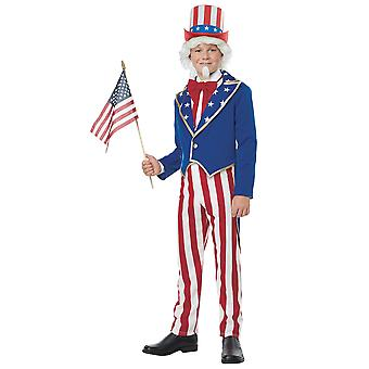 Uncle Sam American Patriotic US Independence Day 4th July Child Boys Costume