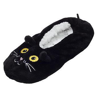 Foxbury Womens/Ladies Cat Slipper Socks