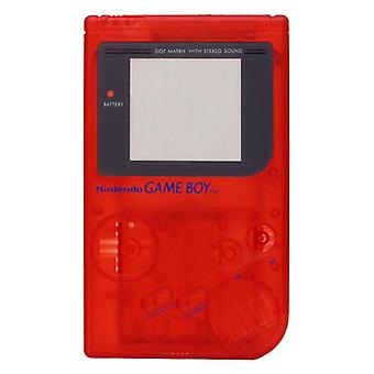 Replacement housing shell case repair kit for nintendo game boy dmg-01 - clear red