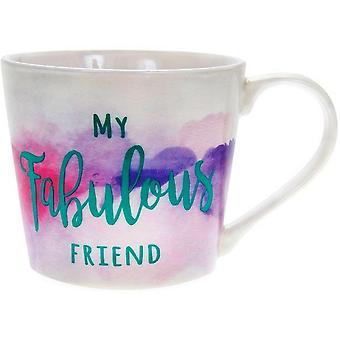 Lesser & Pavey Watercolour Fabulous Friend Mug