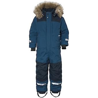 Didriksons Polarbjornen Kids Snowsuit | Hurricane Blue | 140cm