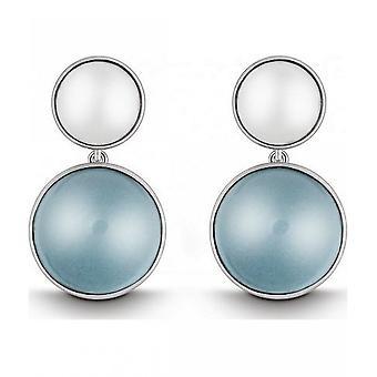 קווין-עגילים (זוג)-נשים-כסף 925-אבן חן-כחול Topas-35080958