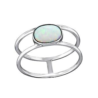 Double Line - 925 Sterling Silver Jewelled Rings - W31194x
