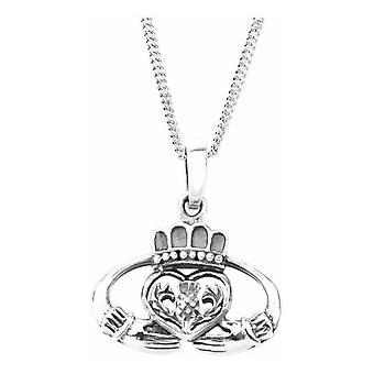 Celtic Irish Claddagh Love Loyalty And Friendship Necklace Pendant - Scottish Thistle Flower Of Scotland - Inclut 18'quot; Chain