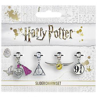 Harry Potter Silber vergoldet Slider Charm Set