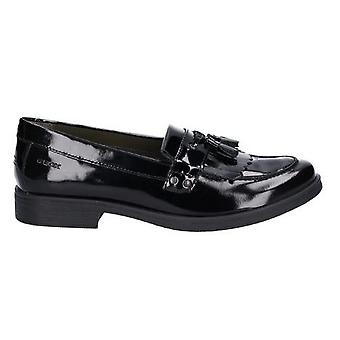 Geox Girls J Agata A Slip On Leather Shoe