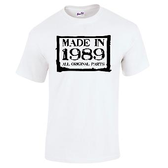 Men's 30th Birthday T-Shirt Made In 1989 Novelty Prezenty dla niego