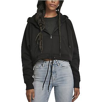 Urban Classics damer-overdimensionerede kort Raglan zip hoody