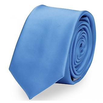 Schlips Krawatte Krawatten Binder 6cm blau uni Fabio Farini