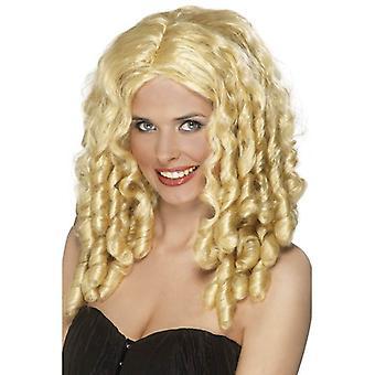 Langen blonden lockigen Perücke, Filmstar Perücke. Filmstar Kostüm Zubehör