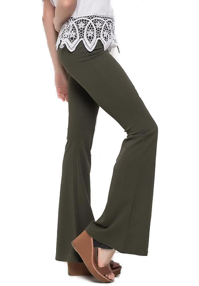 Flared Bootcut Trousers
