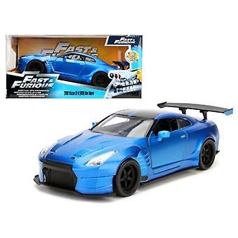 Brian\'S 2009 Nissan Gtr R35 Blue Ben Sopra \Fast & Furious\ Movie 1/24 Diecast Model Car  By Jada