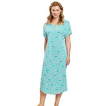 Rösch 1203002-15643 Women's Smart Casual Marrakesch Blue Print Geometric Nightdress