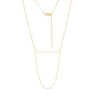 14k Yellow Gold Adjustable Bar Station Necklace Sparkle Cut Cable 18 Inch Jewelry Gifts for Women