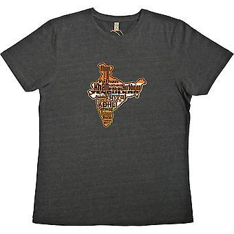 Índia: Campeão mundial 2011 Black 100% Camiseta reciclada