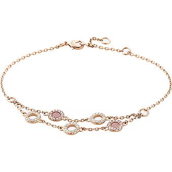 Zeades Sbc01032 bracelet - Bracelet Rose Gold Leather Crystal woman