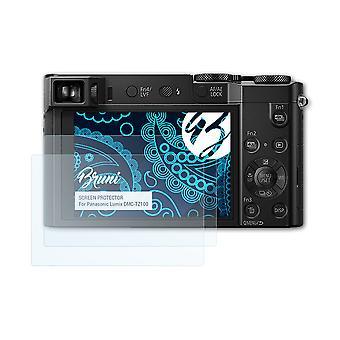 Bruni 2x Pellicola Protettiva compatibile con Panasonic Lumix DMC-TZ100 Proteggi Schermo