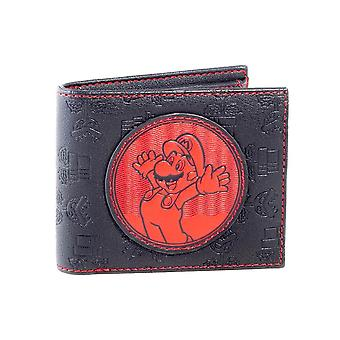 Super Mario Red and Black Patch Bi-Fold Wallet
