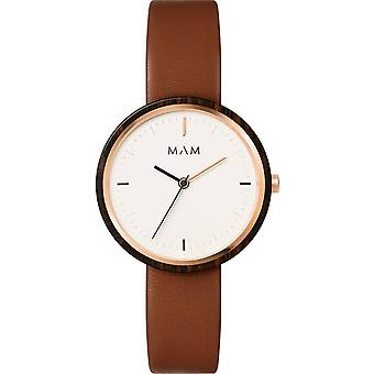 Mam Original quartz Analog Women Watch with PLANO Cowhide Bracelet 661