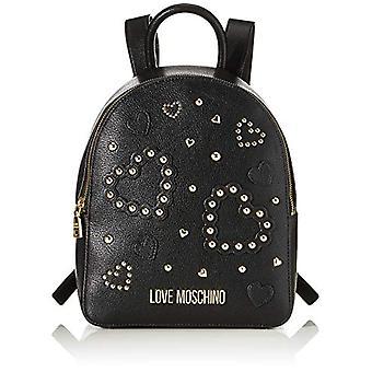 الحب موسكينو Jc4036pp1a حقيبة حقيبة ظهر المرأة السوداء (أسود) 10x27x30 سم (W x H x L)