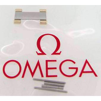 Authentic omega watch bracelet end link, half bar, steel with 18ct yellow gold capped, omega 026de864