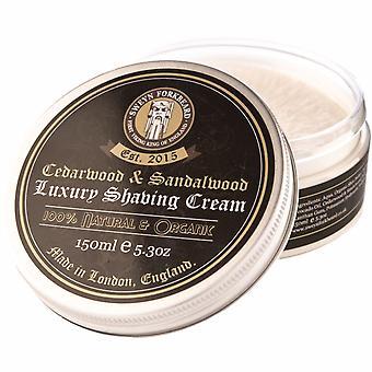 Sweyn Forkbeard Organic  Shaving Cream - 150ml Cedarwood & Sandalwood