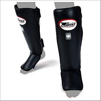 Twins special black slim padded shin guards